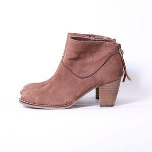 Crown Vintage Booties Zipper Heel Boots_6.5